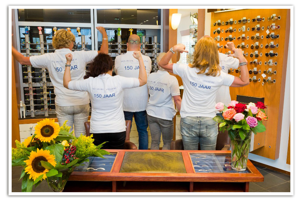 holsboer optometrie team 150jaar